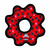 Tuffy's Ultimate Gear Ring Dog Toy, Red Paws