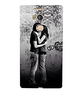 Beautiful Kiss moment Cute Fashion 3D Hard Polycarbonate Designer Back Case Cover for Gionee Elife E8