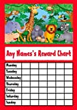 RED JUNGLE ANIMALS STAR STICKER REWARD CHART