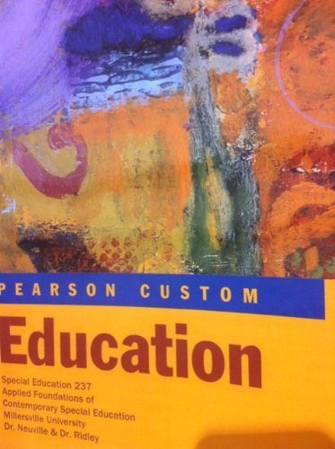 Applied Foundations of Contemporary Special Education (Spec Ed 237)