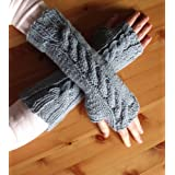 7 Fingerless Gloves Knitting Patterns : How To Knit Fingerless Gloves or Wrist Warmers (Easy One Day Project)by May Redwood