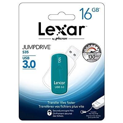Lexar JumpDrive S35 16GB USB 3.0 Flash Drive - LJDS35-16GABNL (Teal)