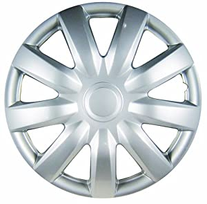 "White Knight WK-985C, Toyota Camry, 15"" Silver/Lacquer Plastic Wheel Cover, Set of 4"
