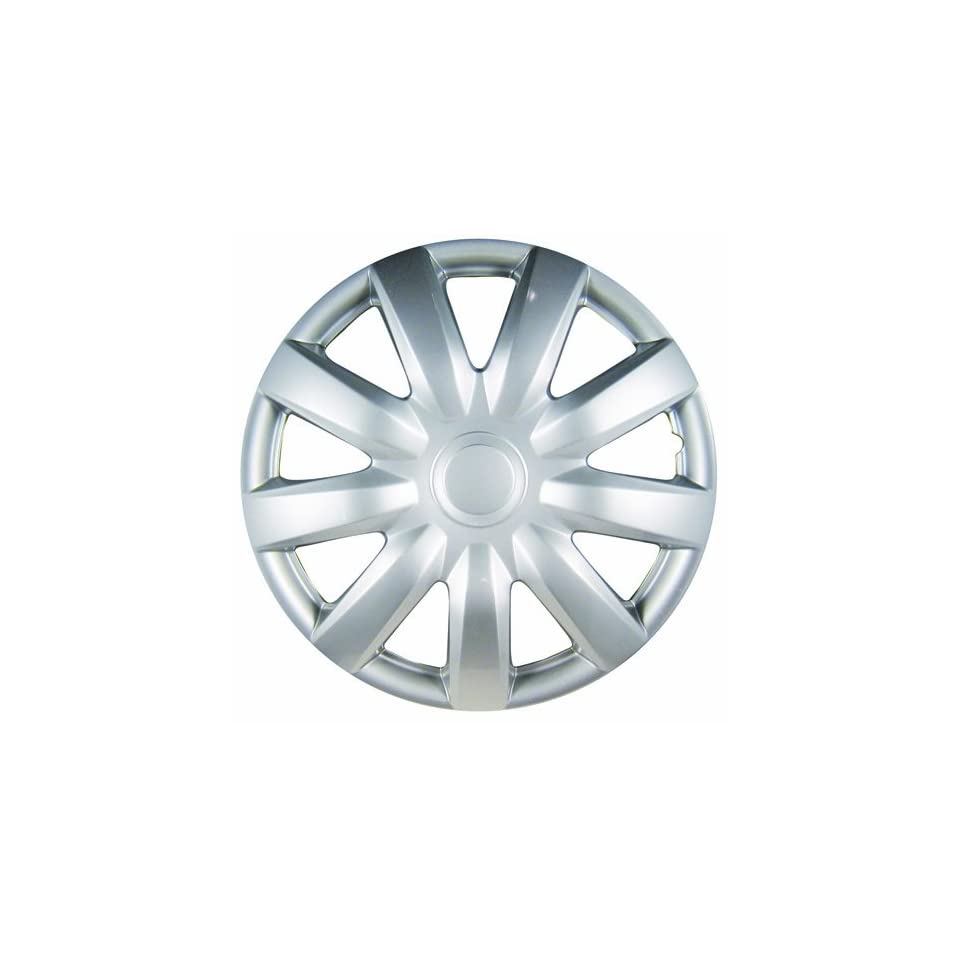 White Knight WK 985C, Toyota Camry, 15 Silver/Lacquer Plastic Wheel Cover, Set of 4
