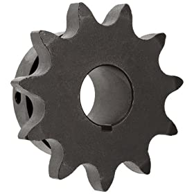 "Martin Roller Chain Sprocket, Bored-to-Size, Type B Hub, Single Strand, 80 Chain Size, 1"" Pitch, 30 Teeth, 1.5"" Bore Dia., 10.114"" OD, 4.75"" Hub Dia., 0.575"" Width"