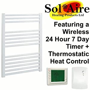 300 x 800 mm Straight White Electric Heated Towel Rail       Customer review and more information