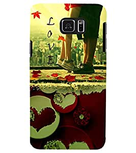 PRINTSWAG LOVER COUPLE Designer Back Cover Case for SAMSUNG GALAXY NOTE 5 EDGE