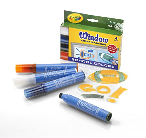 Crayola Washable Window Mega 4-Color Set Marker (58-8171) - 1