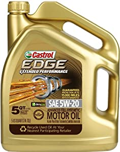 Castrol 03083 EDGE 5W-20 Synthetic Motor Oil - 5 Quart by Castrol