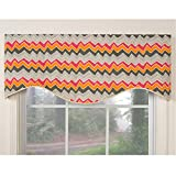 Metro Shop Tempo Orange M-shaped Window Valance