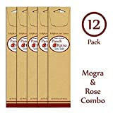 Panchratan Perfumed Charcoal Incense Sticks ( Pack Of 12, 23cms, Mogra And Rose Fragrance )