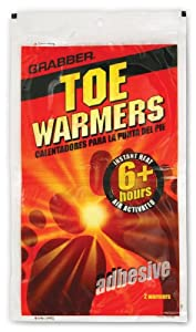 Toe Foot Warmers (40 count) by Grabber