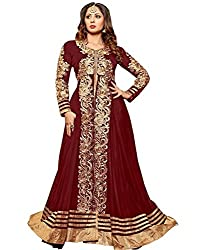 Sangita ghosh Fabulous Maroon Designer Lengha Style And Straight Suit