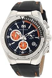 TechnoMarine Men's 110001L Cruise Steel Leather Strap Watch