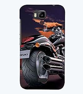 Printvisa Premium Back Cover Sporty Stylish Bike Design For Huawei Honor Bee::Huawei Y 5C