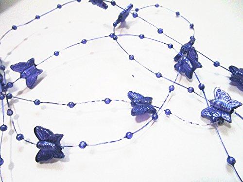 10m rouleau guirlande de perles et de papillons: Violet