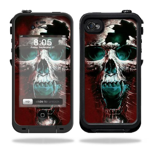 Mightyskins Protective Vinyl Skin Decal Cover for LifeProof iPhone 4 / 4S Case wrap sticker skins Wicked Skull (Iphone 4s Skin Decal compare prices)
