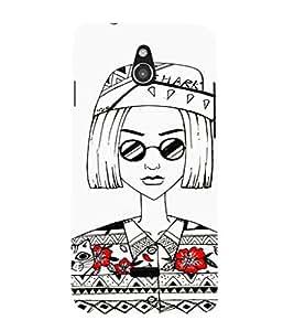 EPICCASE Artistic Girl portrait Mobile Back Case Cover For Infocus M2 (Designer Case)