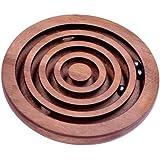 Kugel Labyrinth - Geschicklichkeitsspiel - Denkspiel - Knobelspiel - Geduldspiel aus Holz