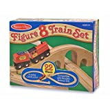 Melissa & Doug Classic Wooden Figure Eight Train Set
