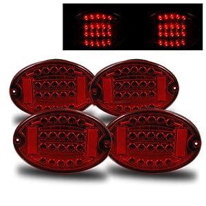 Amazon.com: Chevrolet Corvette Red LED Tail Lights - Fits