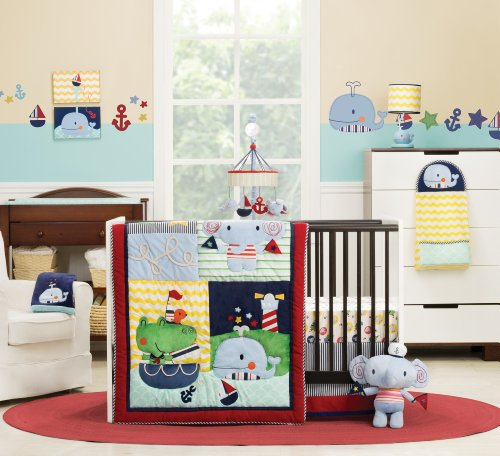 Kids Line Crib Set, Sail Away, 6 Piece