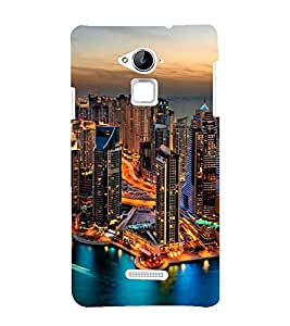 printtech City Lights Building Back Case Cover for Coolpad Note 3 Lite Dual SIM with dual-SIM card slots