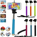 Telescopic / Extendable Selfie stick Self-portrait - Monopod Selfie Handheld Stick Pole with Mount Holder specially designed for Most mobile phones and smartphones such as Iphone 5s 5c 5 4s 4 6 Samsung Galaxy - Can Be Used With Mobile Cell phone and a Camera (Variation Colours)