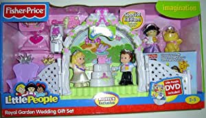 Amazon Fisher Price Little People Royal Garden Wedding Gift Set With Bonus Figures And DVD