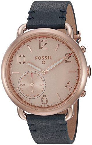 Fossil-Q-Tailor-Gen-2-Hybrid-Blue-Leather-Smartwatch