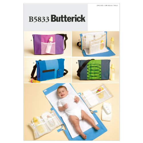 Butterick Patterns B5833 Diaper Bag and Changing Pad, One Size