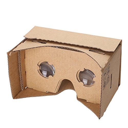Google Cardboard ダンボール 製 組立式 VR 3Dメガネ iPhone Samsung対応 スマホでお手軽3Dゴーグル