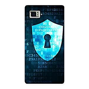 Delighted Cyber Secur Print Back Case Cover for Vibe Z2 Pro K920