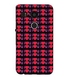 Vizagbeats I L U Back Case Cover for Google Nexus 5x