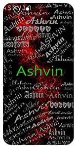 Ashvin (A Cavalier) Name & Sign Printed All over customize & Personalized!! Protective back cover for your Smart Phone : Moto G-4