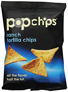 Popchips Tortilla Chips, Ranch, 1-Ounce (Pack of 24)