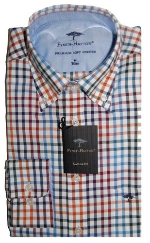 Fynch Hatton Checked Casual Shirt 122-6300 (X Large)