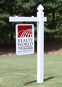 Amazon Com Vinyl Pvc Real Estate Sign Post White Home