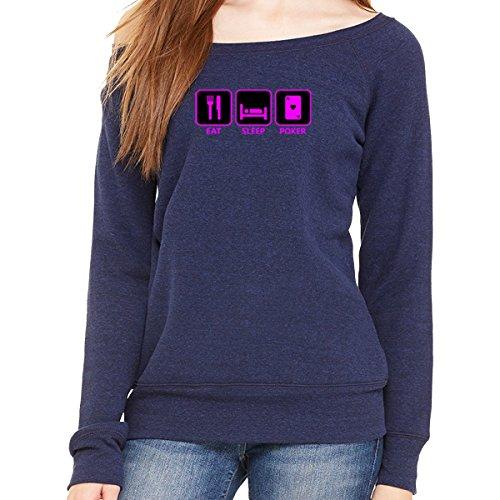 Poker Woman - Wide Neck Sweatshirt
