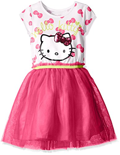 Hello-Kitty-Girls-Bow-Print-Tutu-Dress