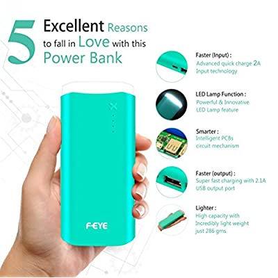 F-EYE FMPBJK-7 Best Power Bank 13000mah External Battery Dual USB Output  with LED Lamp (Made In India)