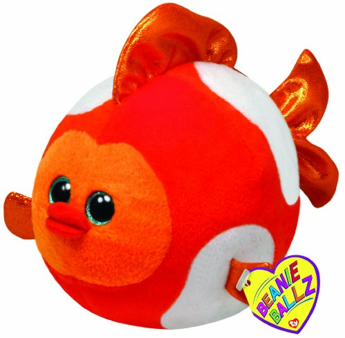 "Ty Beanie Ballz Bubbles Fish 8"" Plush - 1"