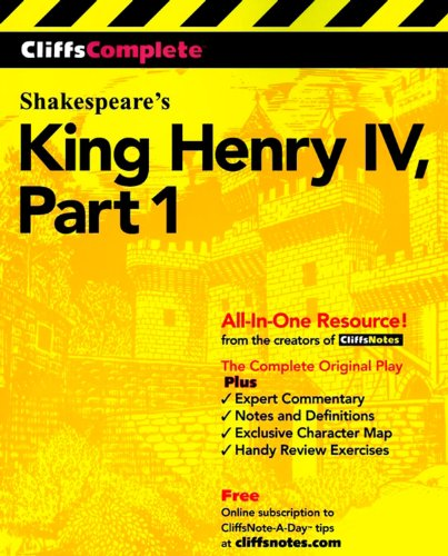 CliffsComplete King Henry IV, Part 1 (Pt.1) (King Henry Iv Part 1 compare prices)