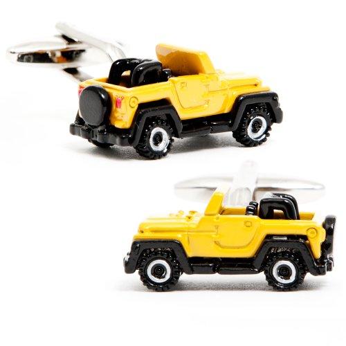 Yellow Off-Road Vehicle Cufflinks