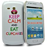 "Accessory Master keep calm and eat cup cakes Hart Schutzh�lle f�r Samsung Galaxy S3 mini wei�von ""Accessory Master"""