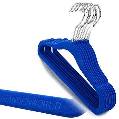 Hangerworld pack de 100 perchas infantiles azul - Perchas ahorra espacio ...
