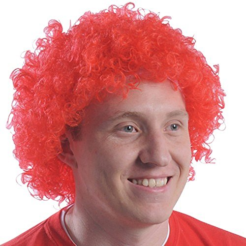 Red Curly Afro Wig Afro Clown Ronald McDonald Fro