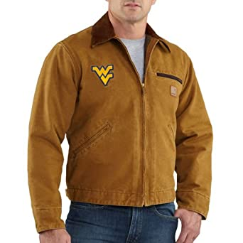 NCAA West Virginia Mountaineers Mens Sandstone Detroit Jacket by Carhartt
