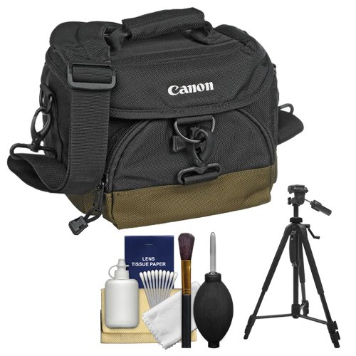 Canon 100Eg Digital Slr Camera Case Gadget Bag Plus Tripod Plus Accessory Kit For Eos 7D, 5D, 60D, 50D, Rebel T3, T3I, T2I, T1I, Xs