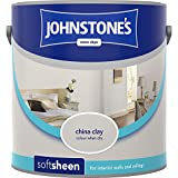 Johnstones No Ordinary Paint Water Based Interior Soft Sheen Emulsion China Clay 2.5 Litre